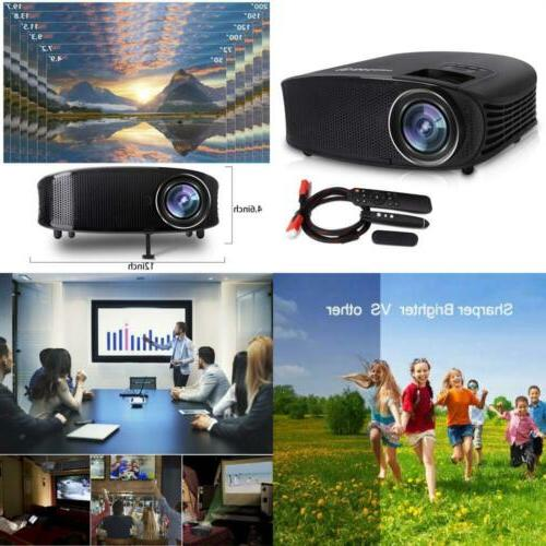 Video Projector,DHAWS 3800LM 1080P Full HD Projector for Business Presentation Home PPT