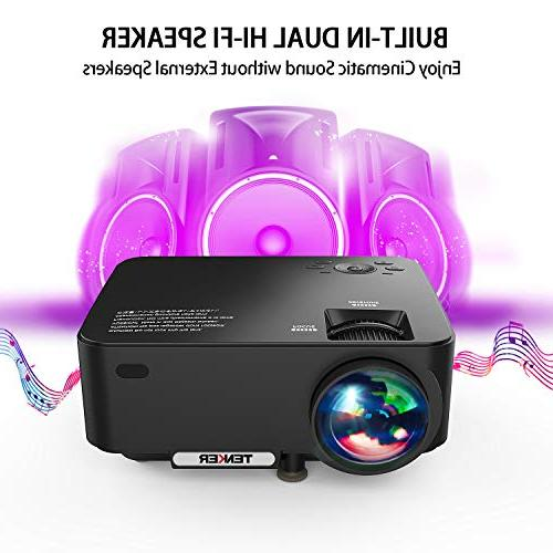 Projector, TENKER 60% Mini Theater Projector LCD Up 176-inch Display,