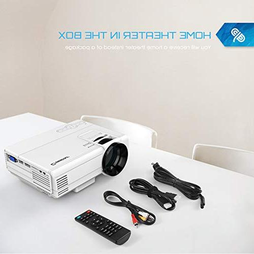 Crosstour Mini Home Projector Supporting 1080P Built-in Lamp with