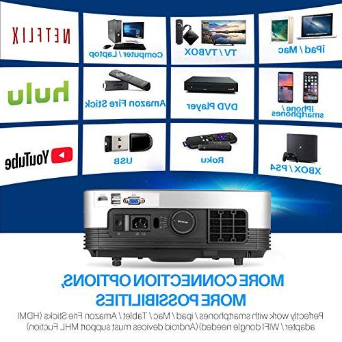 """Projector, PHOOTA Portable Video HD - 200"""" Home Theater Projector Support TV PS4 Xbox Mac"""