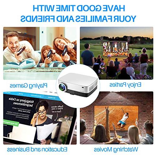 Projector, Portable Projector HD Projectors Home Theater Movie Support Stick Xbox iPhone Laptops Mac