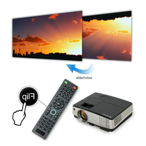 Projector HD LED Android WIFI Movie Theater HDMI+72'' Screen