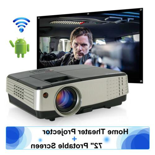 projector hd led android wifi video movie