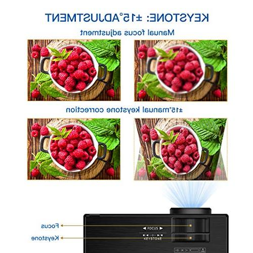 Video Projector Lumens Projector   Projector with Stand Theater VGA SD Home Entertainment, Party