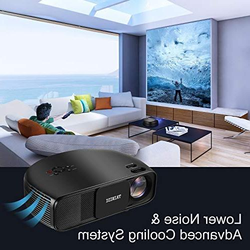 Projector, 3600Lux, Full HD with 2HDMI 2USB Headphone Jack,