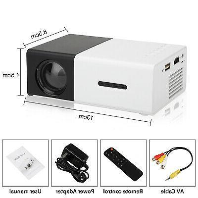 1080P Home Theater USB HDMI Mini Portable HD Projector Lumens