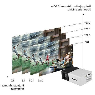1080P Home Theater USB HDMI Mini Portable HD LED Projector
