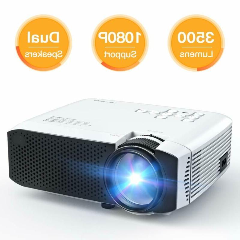 Projector, Apeman Mini Portable 3500L Video Projector Led Wi
