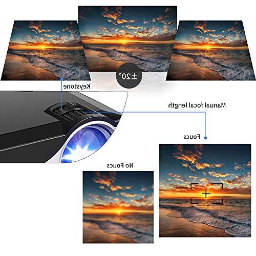 Projector Lumens 800x480 LED Projectors VGA Smartphone for Home Theater
