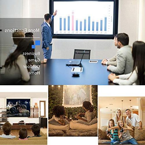 Projector Upgraded Lumens 800x480 LED Mini Projectors Card Laptop Smartphone for Theater