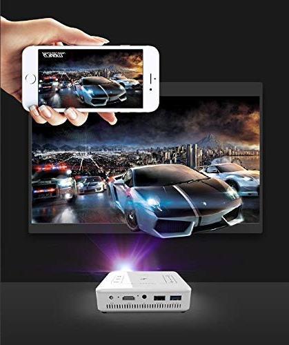 FidgetFidget + 16G DLP 5000 Lumens Android 1080P HDMI SD US