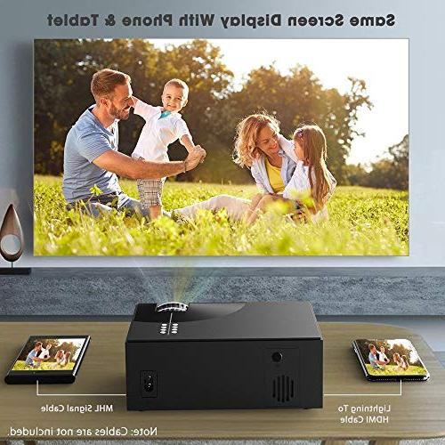 PRAVETTE Mini Projector 800x480 HDMI/USB/SD Pc iPhone Android DVD
