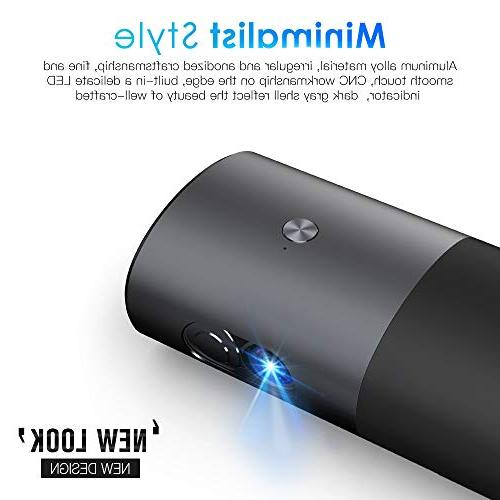 Projector WOWOTO Lumens Built-in Battery 15600mAh 3D Portable Projectors Double Speakers for Home Theater Supporting 1080P Wireless Share Android