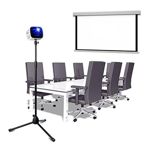 Projector Stand,Portable Mount Floor with 360°Swivel Ball for Gopro all machine with 1/4 or 3/8 inch screw hole)