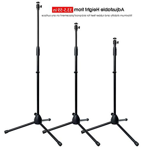 Projector Stand,Portable Mount with 360°Swivel Ball Gopro machine with 1/4 or