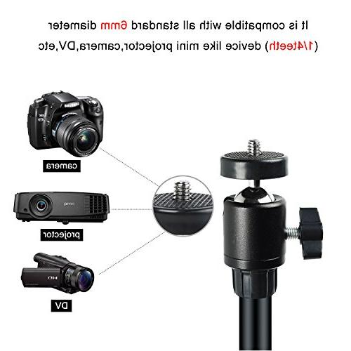 Projector Stand,Portable Adjustable Mount Stand with for Gopro machine with 1/4 3/8 inch screw