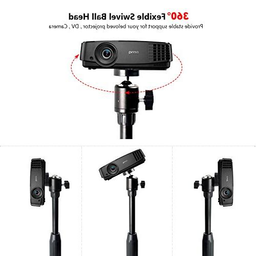 Projector Mount Floor Stand with 360°Swivel for Projector,Camera, Gopro machine or 3/8 screw hole)