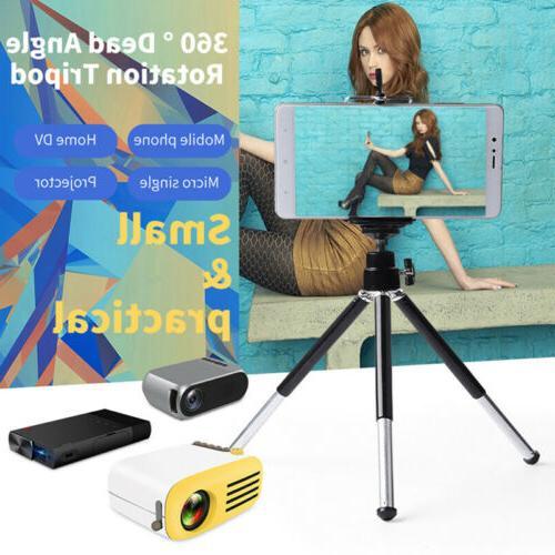 360°Rotation Mini Portable Projector Tripod Bracket Holder
