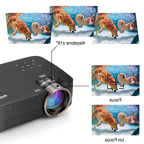 Projector, Meyoung 2019 Upgraded Touch Projector Support 1080P, HD Outdoor for Games-