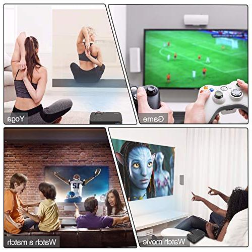 Projector, Touch Panel Mini Projector Support LCD HD Video for Games- PC/Mac/TV/DVD/iPhone/iPad/USB/SD/AV/HDMI