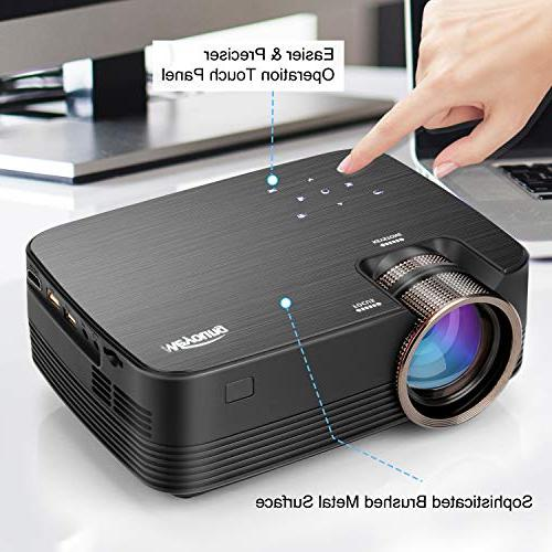Projector, Meyoung Touch Projector 1080P, HD Outdoor Projector for Home Games-