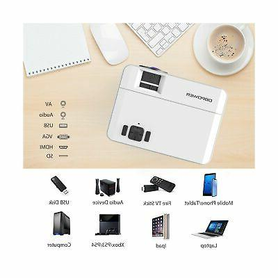 DBPOWER Upgraded Lux Mini Projector BOX