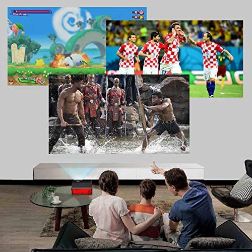 """Paick Projector Projector 180"""" Upgraded +60% Brighter 1080P HD Home Cinema Portable Projector Input Mac/PC/TV/Movies/Games"""