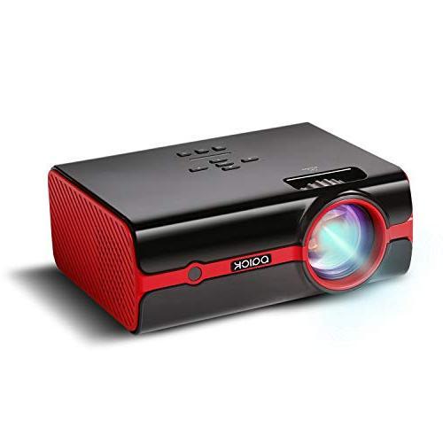 Paick LED Video Projector Upgraded +60% 1080P HD Home Cinema Portable Projector HDMI/USB/SD/AV/VGA Input Mac/PC/TV/Movies/Games