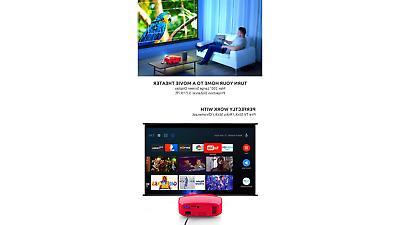 Projector, Crenova Upgraded Video Portable Movie