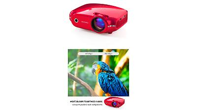 projector upgraded home video projector portable mini