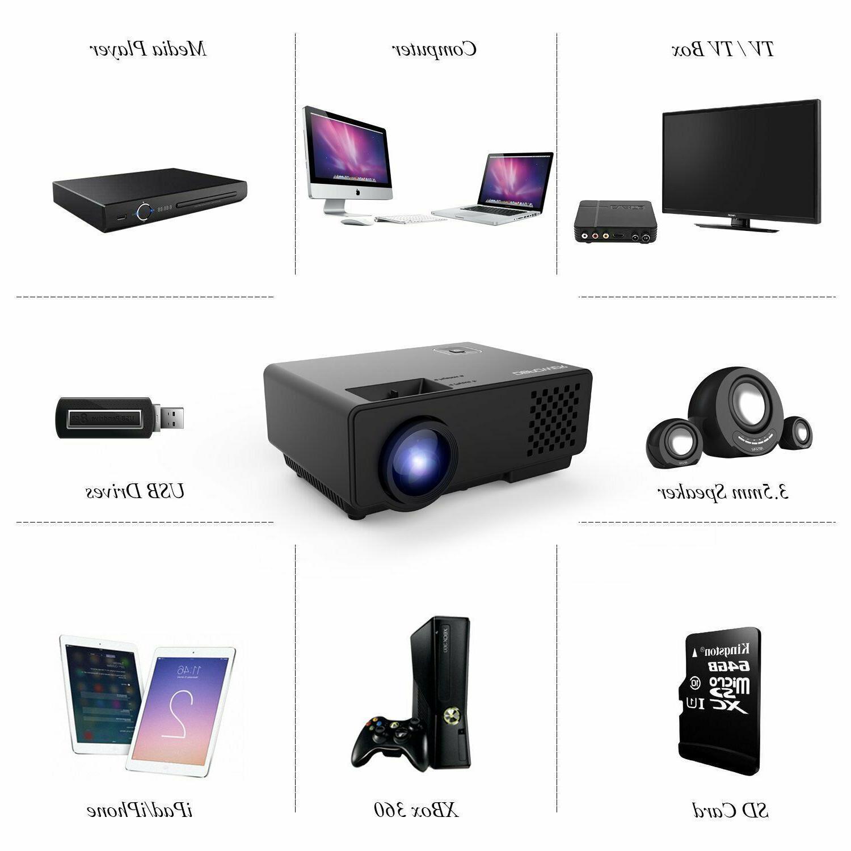 Projector Upgraded Mini Multimedia Theater 1080P HDMI