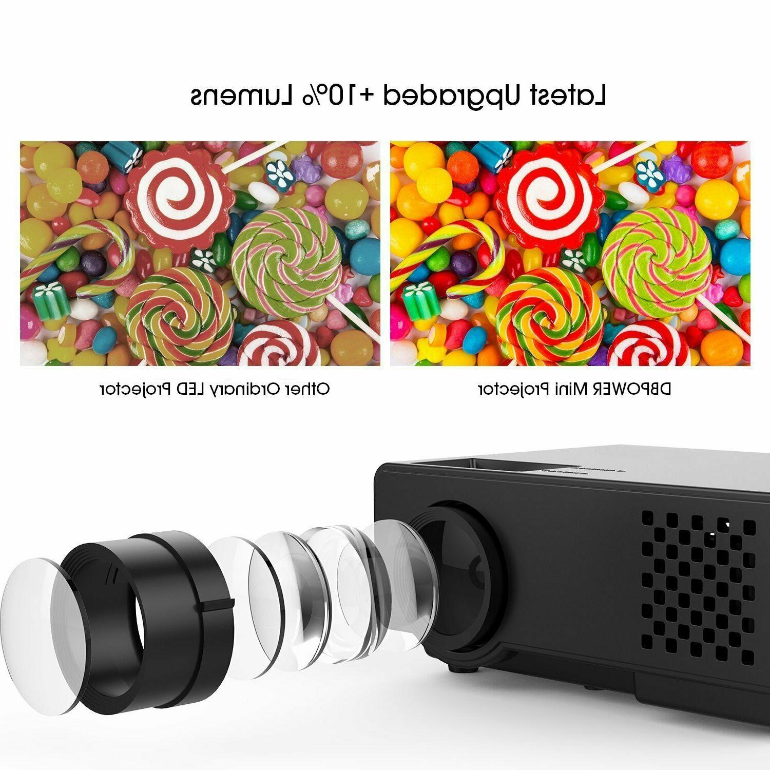 Projector Upgraded DBPOWER Multimedia 1080P