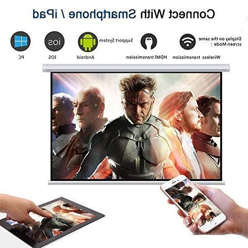 Wireless WiFi DIWUER Projector Full 1080P Portable Mini Mira-cast Game