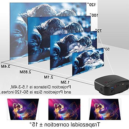 Wireless WiFi Video DIWUER Brighter Full HD 1080P Mini Projectors Airplay Mira-cast for Game