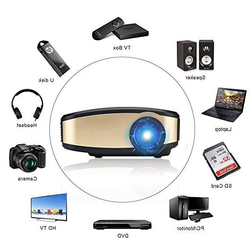 Wireless WiFi DIWUER Full 1080P Mini Projectors Support Mira-cast for Game