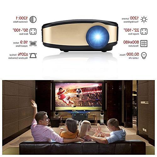 Wireless WiFi DIWUER +50% Full Portable Mini Projectors Mira-cast for Home Theater Game Movie