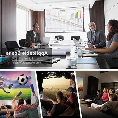 Video Projector Full Home Theater Projector for Movie and PowerPoint Presentation for iPhone Android