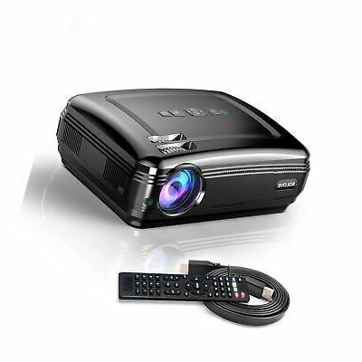 Video SOLOVE HDMI Projector HD Home Projector Movie and Presentation for iPhone Android
