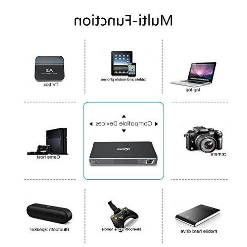Projectors,TOUMEI Portable 7.1 Video Projector Throw Projector Keystone and
