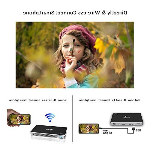 Projectors,TOUMEI Android 7.1 Throw Display,Smart Projector Keystone and