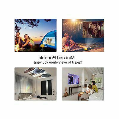 WOWOTO Mini Portable Projector 150 ANSI Lum, Smart Projector ...