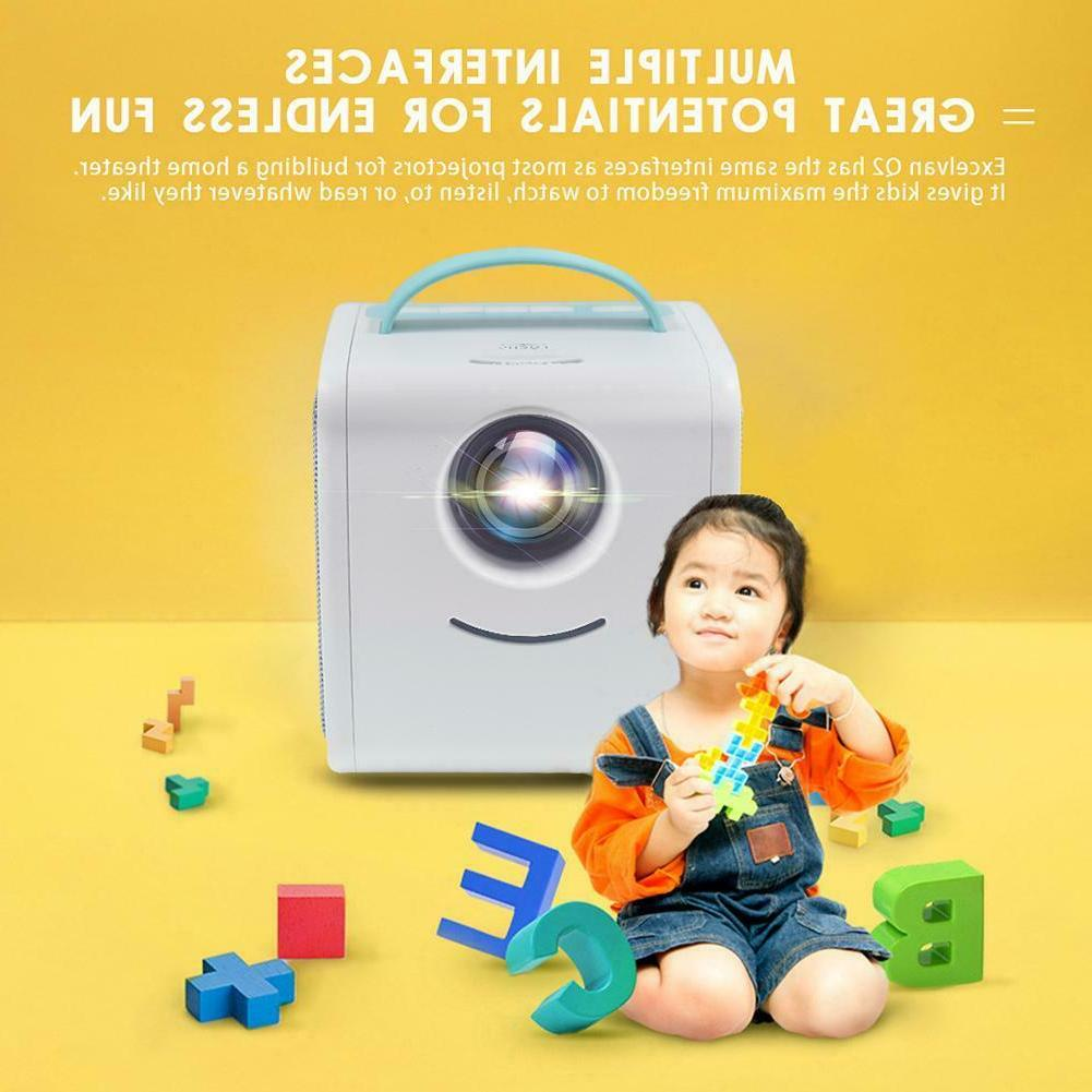 Q2 Portable Projector 1080P Education TV Home #Z