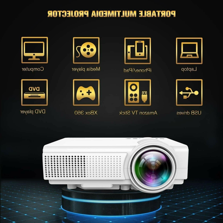 TENKER Q5 Mini Projector 1080P with Display Full HD