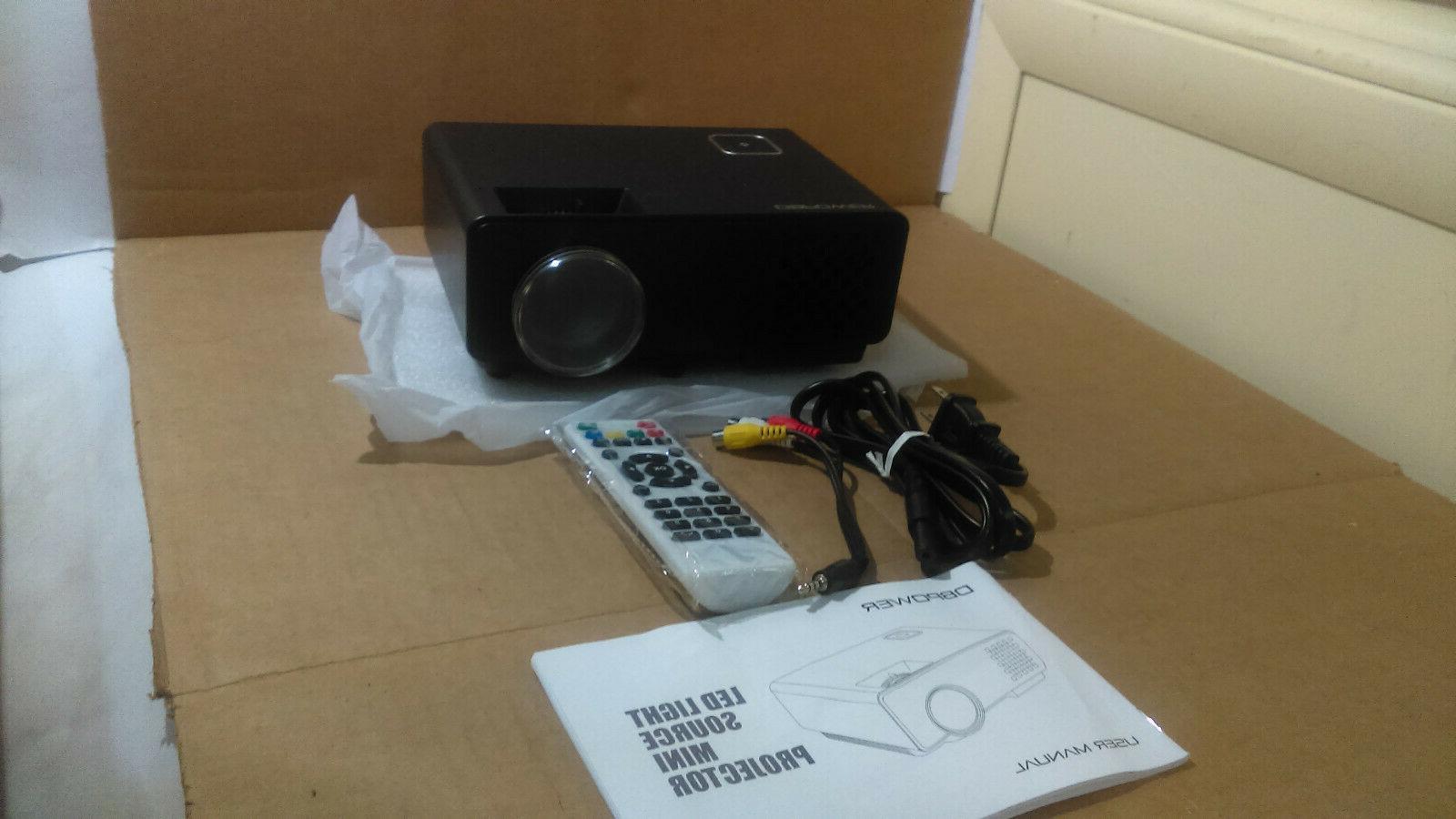 rd 810 mini projector black arbk4