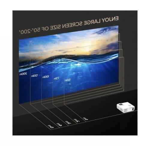DBPOWER Projector, Lumens Video Multimedia Portable