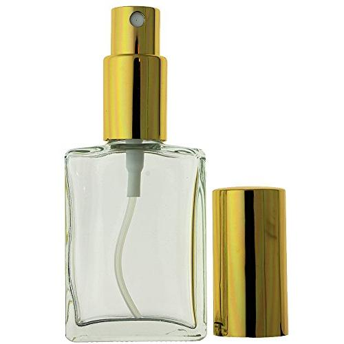 3-PIECE 1 ML EMPTY GLASS MIST GOLD