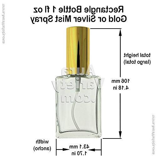 3-PIECE OZ ML GLASS BOTTLE FINE MIST GOLD