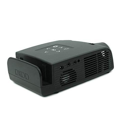 AAXA Switch Dock Projector, 3 Hour Battery, Video Input, 720p HD Resolution, 400 DLP