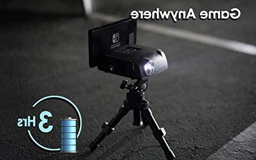 AAXA S1 Mini Switch 3 Hour Battery, USB-C Input, Resolution, 400 Gaming, DLP