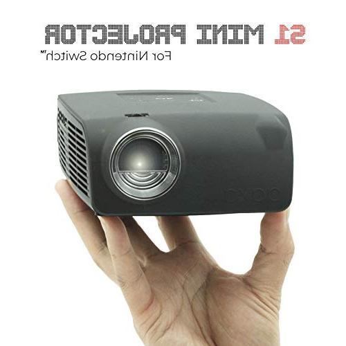 AAXA Nintendo Switch Projector, 3 Hour Input, 720p Resolution, Lumens, DLP